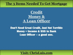 The 3 Items You Need for a Mortgage