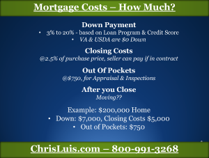 Costs in Getting A Mortgage