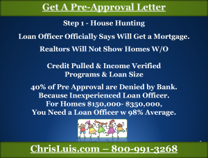 Get Pre-Approved for Mortgage