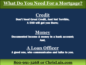 4 What You You Need for a Mortgage